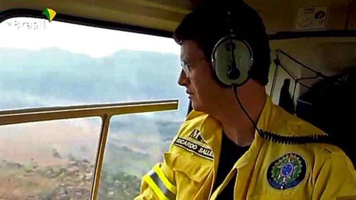 Com a chuva deste sábado, expectativa é que o fogo seja extinto (Divulgação/Agência Brasil)
