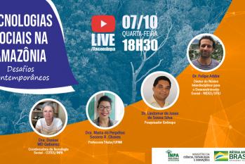 O evento online não requer inscrição e será transmitido pelo canal do YouTube do Inpa /AscomInpa (Reprodução/ Internet)