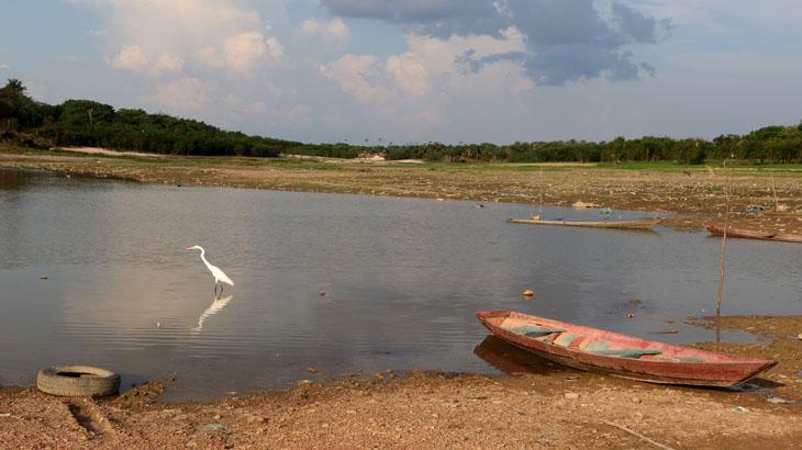 Rio Negro na vazante