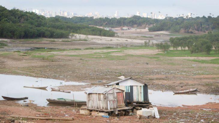Seca do Rio Negro transforma paisagem amazônica (Ricardo Oliveira/Revista Cenarium)