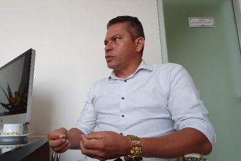 Cabo Coutinho expõe seus projetos para a saúde, educação e, em especial, para a segurança pública (Imagem: Luiz Henrique)