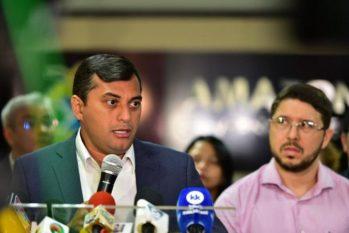 Wilson Lima e Carlos Almeida: relação já dava sinais de estremecimento (Secom)
