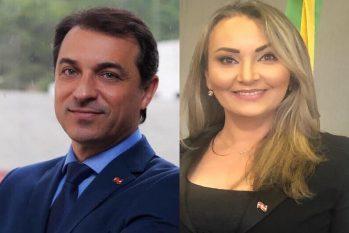 Carlos Moisés (PSL) foi afastado por seis votos a quatro, enquanto no caso de Daniela Reinehr (sem partido) houve empate e a vice-governadora foi absolvida (Reprodução)