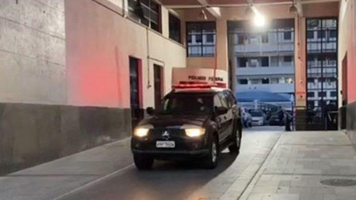 Delegado e empresário foram conduzidos a sede da PF do Rio de Janeiro Imagem/TV Band)