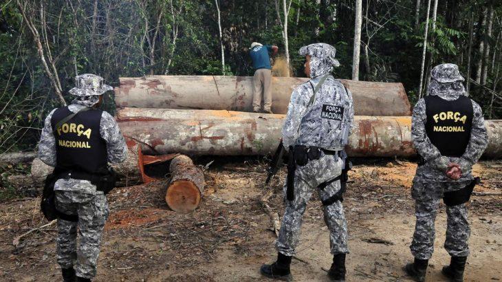 A Força Nacional atua no combate a crimes ambientais na Amazônia desde 2018 (Mário Vilela/Funai)