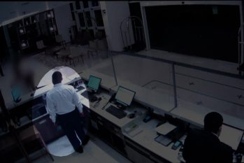 Vídeo mostra funcionário de hotel entrando em quarto de mulher que denunciou estupro no RJ (Divulgação/G1)