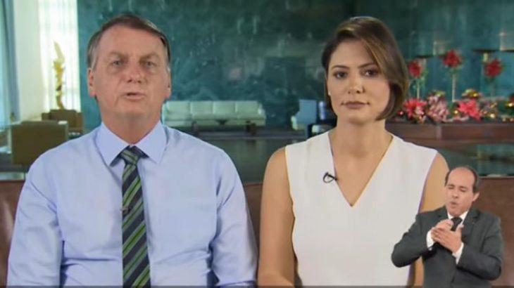 Durante sua fala, houve panelaços intensos em algumas capitais, como Brasília, Rio de Janeiro e São Paulo (Reprodução)