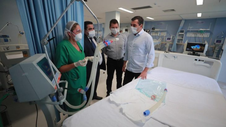 The hospital will offer 27 beds, 10 of which are ICU and 17 are clinical beds, for patients with Covid-19. (Diego Peres / Secom)