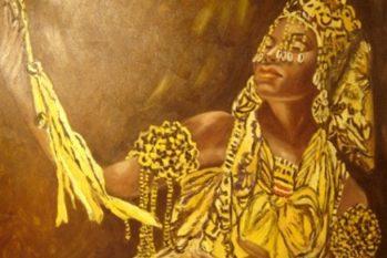 Oxum também é conhecida como Osúm, Osún ou Oxun, ela é a representação da sensibilidade, da delicadeza feminina e da paixão para motivar a essência da vida. Mamãe Oxum adora as águas calmas e é através de sua energia que ela tranquiliza os corações dos apaixonados (Reprodução/ Internet)