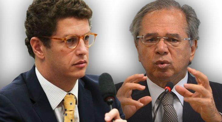 Os ministros Ricardo Salles (Meio Ambiente) e Paulo Guedes (Economia) decidiram criar um grupo de estudo para discutir medidas que impulsionem o segmento no país (Reprodução/ Internet)