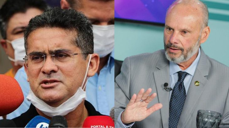 On the right the mayor David Almeida and on the left the president of the Court of Auditors, advisor Mario de Mello (Art: Samuelknf/ Divulgation)