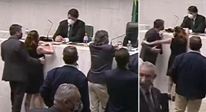 Deputada Isa Penna (PSol) repeliu ato de assédio do deputado Fernando Cury (Cidadania) - (Reprodução)