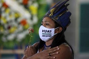 Os indígenas criaram um movimento durante a pandemia para chamar a atenção das autoridades, 'Vidas Negras Importam'. (Bruno Kelly)