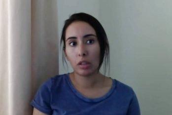 A princesa Latifa, filha do emir de Dubai, em vídeo (Reprodução/ Internet)