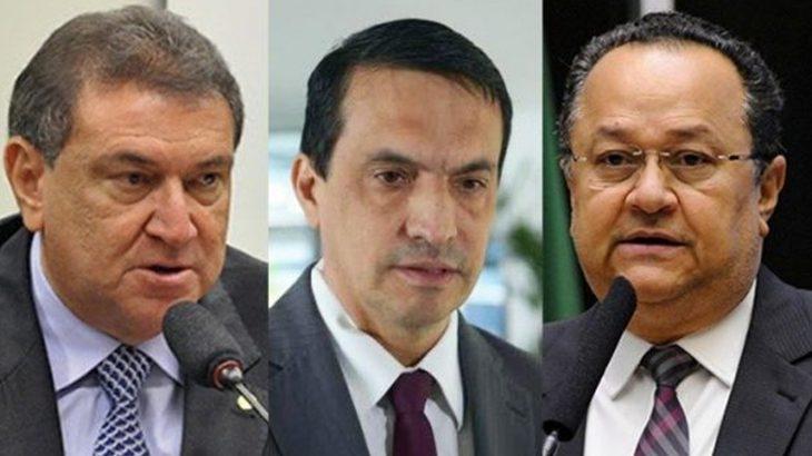 Atila Lins (à esq.),  Sidney Leite (ao centro) e Silas Câmara (à dir.). (Reprodução/Internet)