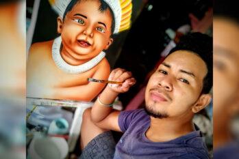 Artista plástico Josivan Castro da Silva tem 22 anos e mais de 100 obras produzias (Arquivo Pessoal/Reprodução)