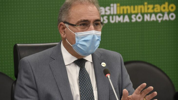 Durante sua fala o ministro voltou a comentar sobre o recebimento de mais de 4 milhões de doses da vacina contra Covid-19 entregues pelo consórcio internacional Covax Facility (Tony Winston/MS)