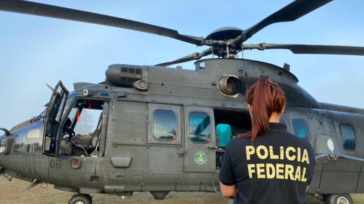 Ação policial  contou com o apoio do Exército Brasileiro e da Força Aérea Brasileira (Divulgação/Polícia Federal)