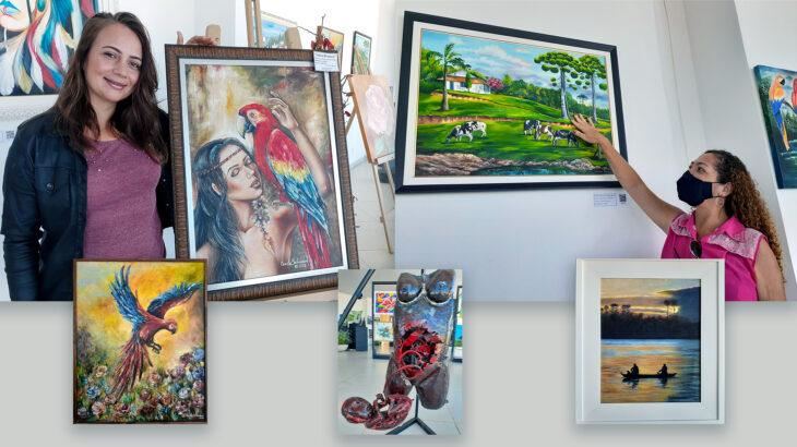 Exposição traz 38 trabalhos de artistas de Vilhena (RO), premiados e reconhecidos pelo mundo. (Fotos: Iury Lima/Revista Cenarium)