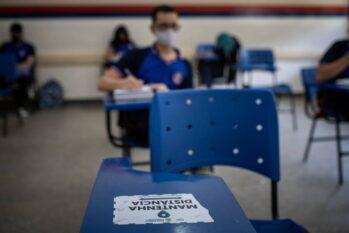 Ministro afirmou que as escolas fechadas têm impacto negativo na Educação. (Raphael Alves/Agência O Globo)