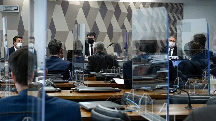 A CPI da Pandemia durante a audiência (Reprodução/Agência Senado)