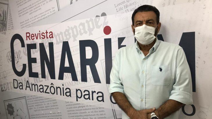 Secretário de Segurança Pública, Luismar Bonates, foi entrevistado na TV CENARIUM (Samuel KNF/Revista Cenarium)