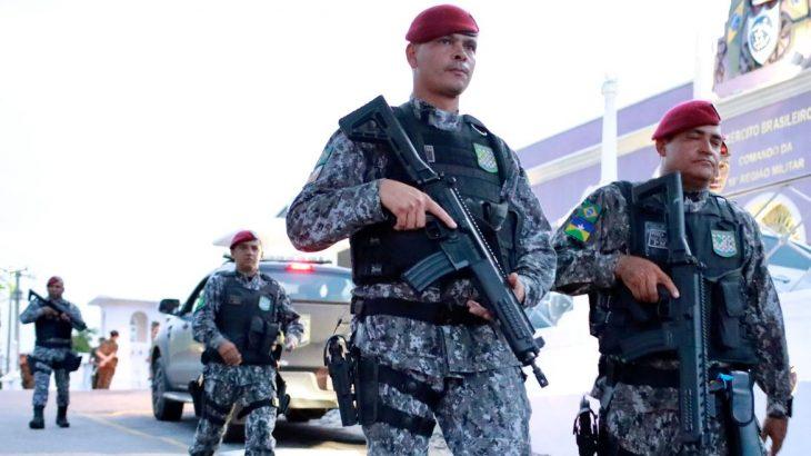 Agentes da Força Nacional (Reprodução/Agência Brasil)