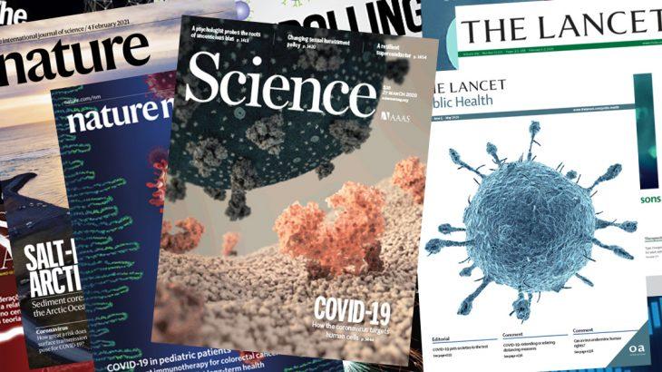 A empresa Clarivate Analytics é referência internacional em cientometria e bibliografia científica (Capas de revista científicas/Divulgação Jornal da USP)