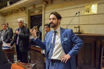 Vereador Dr Jairinho em sessão na Câmara de Vereadores do Rio em 5 de dezembro de 2019 (Renan Olaz/CMRJ/Divulgação)