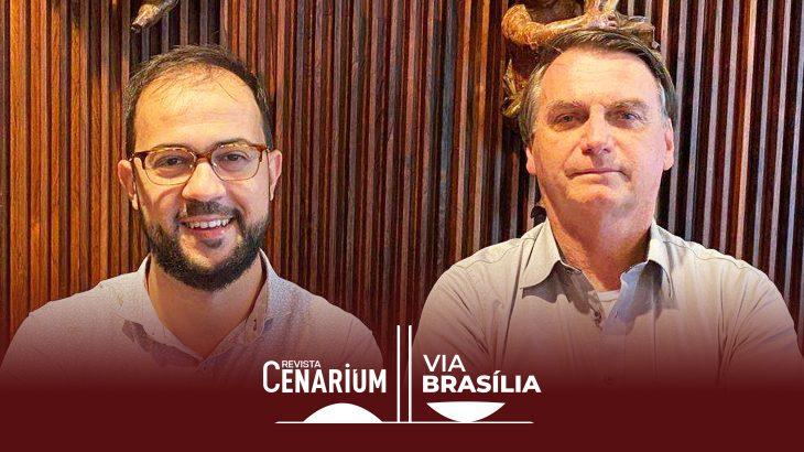 O servidor Luis Ricardo Miranda com o presidente Jair Bolsonaro, em encontro no dia 20 de março (Acervo Pessoal/Reprodução)