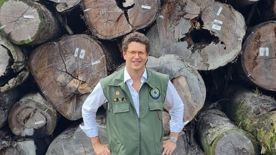 O ministro do Meio Ambiente, Ricardo Salles (Reprodução/G1)