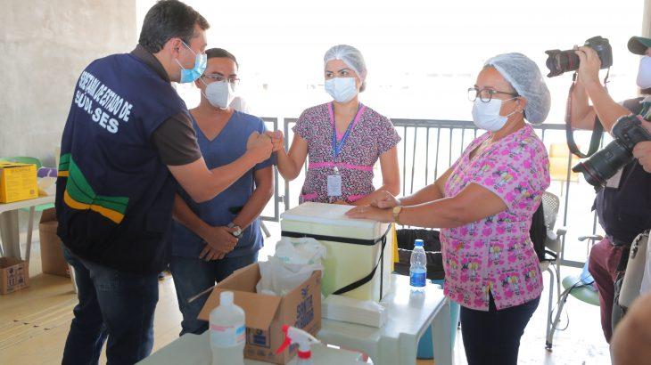 Ao todo, serão 57 pontos de imunização na capital, mais 3 mil servidores estaduais envolvidos e a expectativa é imunizar em torno de 214 mil pessoas (Diego Peres/Secom)