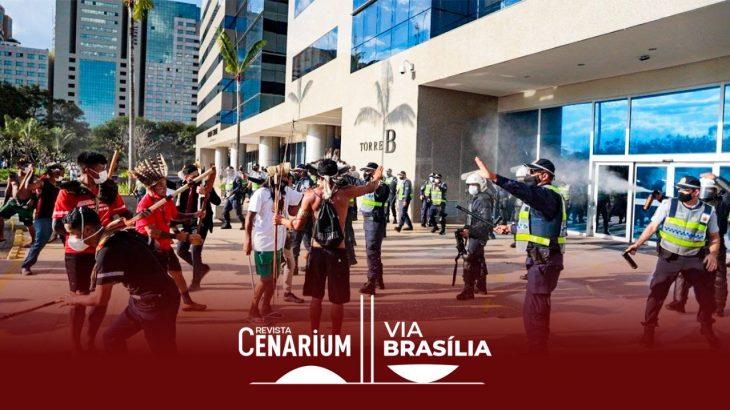 A efetividade policial foi posta em xeque por movimentos sociais e indigenistas (Mídia Ninja/Reprodução Apib)
