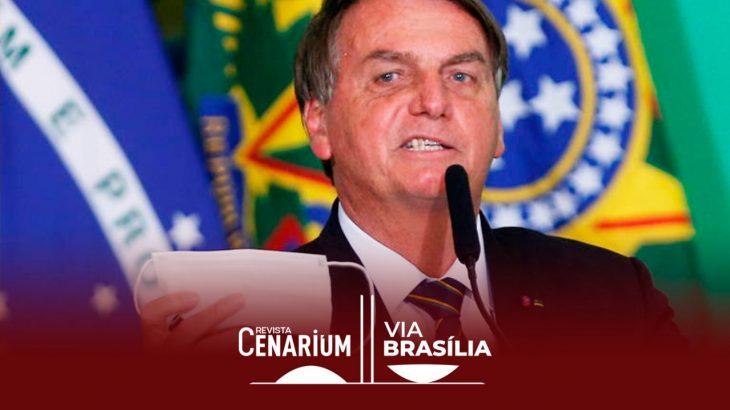 O presidente Bolsonaro em evento no Palácio do Planalto (Adriano Machado/Reuters)