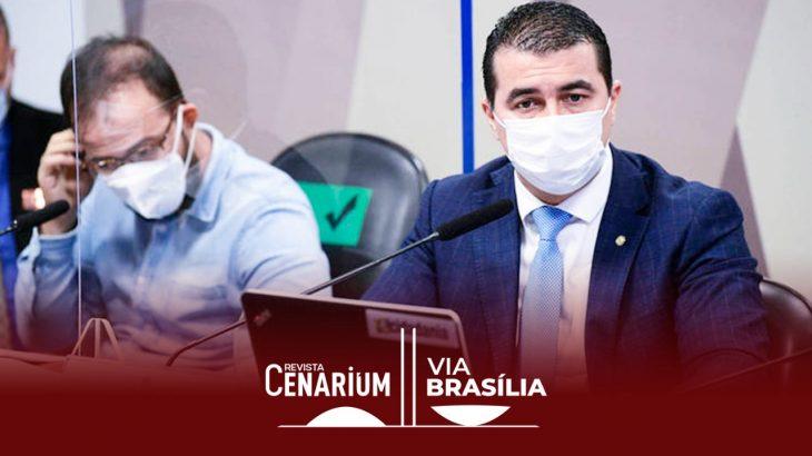 Luís Ricardo e o irmão, o deputado Luís Miranda, depõem à CPI da Covid nesta sexta-feira, 25 (Pedro França/Agência Senado)