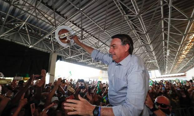 Bolsonaro durante inauguração de uma usina termoelétrica em Aracaju (SE), em agosto de 2020 (Alan Santos/PR)