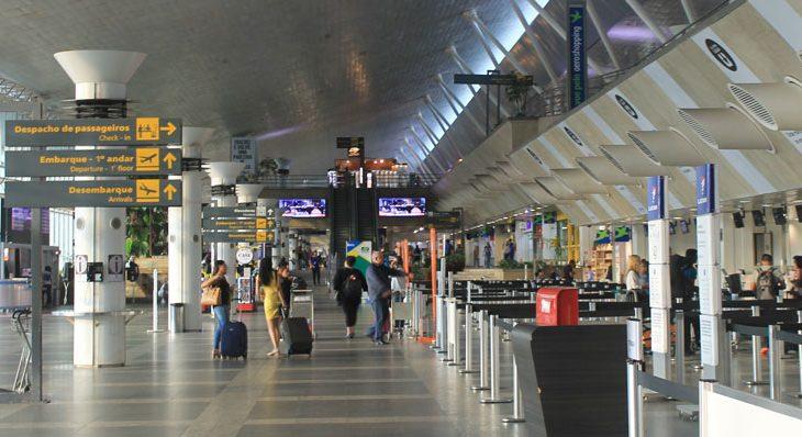 Saguão do aeroporto de Val de Cans, em Belém (Foto: Divulgação/Infraero)