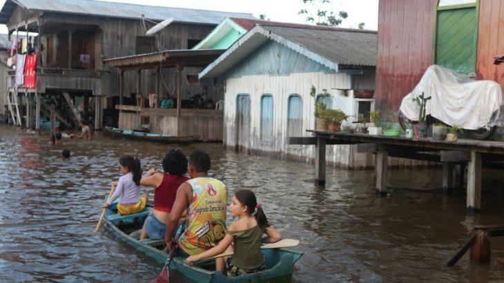 Enchente cidade de Anamã