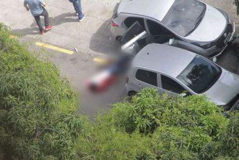 Um dos assaltante morto na Avenida Nazaré (Foto: Reprdoução/Twitter).
