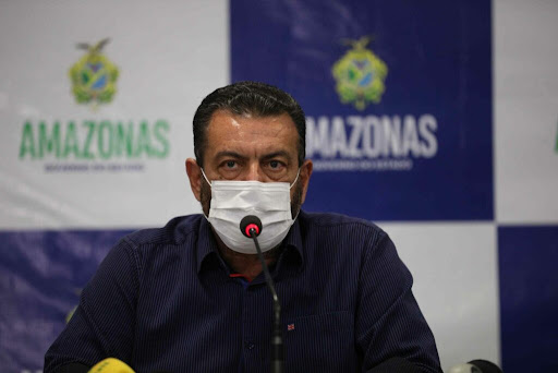 Coronel Louismar Bonates em uma entrevista coletiva no governo do Amazonas (Lucas Silva/Secom)
