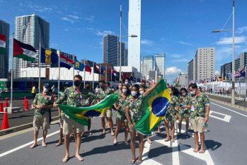 Atletas da delegação Brasileira em Tóquio (Divulgação/Christian Dawes)