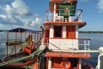 Embarcação apreendida (Divulgação/SSP-AM)
