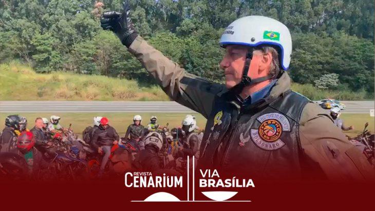 Bolsonaro sem máscara durante passeio de motociclistas em São Paulo (Reprodução/Internet)