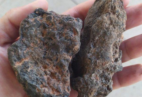 Minério de Manganês apreendido pela PF (Foto: Divulgação).