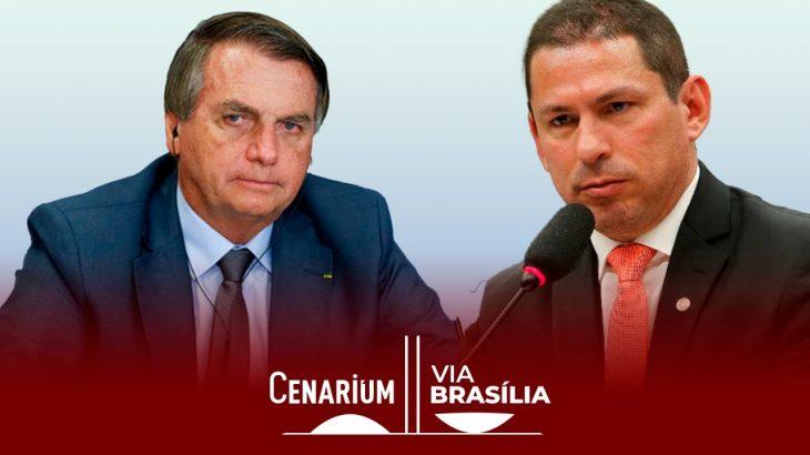 Ramos chamou publicamente Bolsonaro para um debate sobre Fundão, 'rachadinha' e sobrepreço de vacinas (Arte: Catarine Hak/Cenarium)
