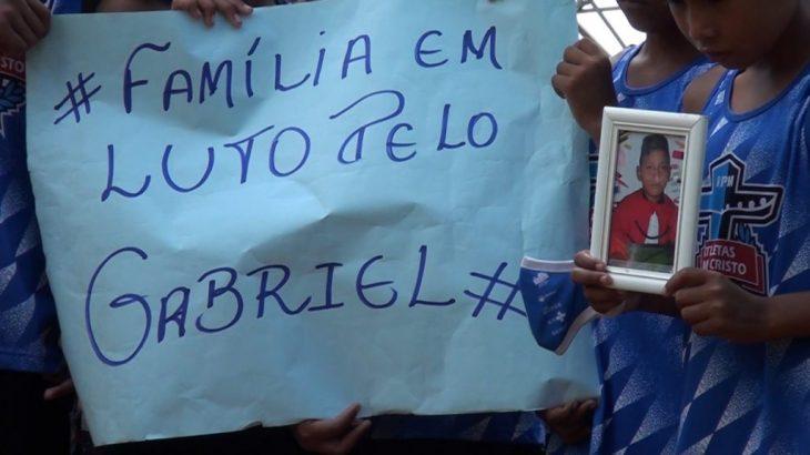 Gabriel foi atingido durante um tiroteio de uma ação policial (Jander Souza/Cenarium)