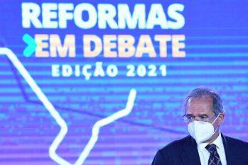 Ministro da Economia, Paulo Guedes, participa do evento Reformas em Debate na CNI Brasília ( Edu Andrade/Ascom/ME)
