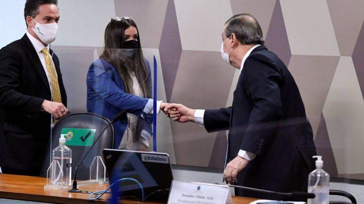 Emanuela Medrades, diretora da Precisa, depõe à CPI da Covid (Edilson Rodrigues/Agência Senado)