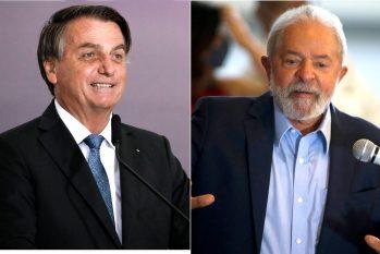 O presidente Jair Bolsonaro e o ex-presidente Luiz Inácio Lula da Silva (Arquivo O Globo)