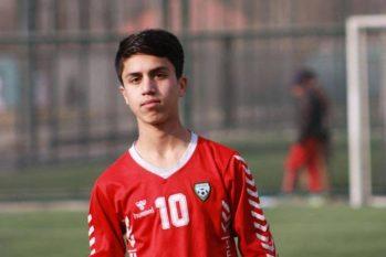 Zaki Anwari, no tempo em que defendia a seleção afegã (Reprodução)